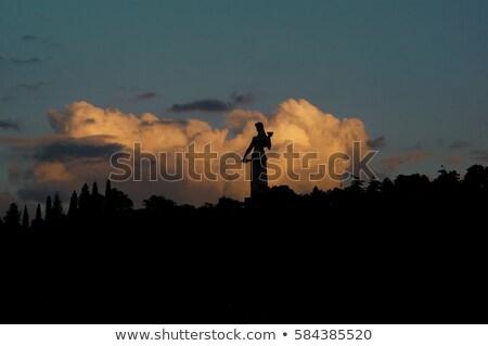 Szobor anya Grúzia híres nő égbolt Stock fotó © joyr