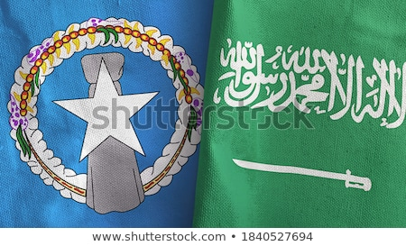 Arábia Saudita norte bandeiras quebra-cabeça isolado Foto stock © Istanbul2009