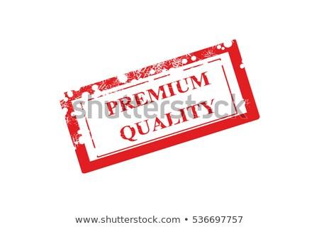 Premium quality rubber stamp text illustration Stock photo © kiddaikiddee