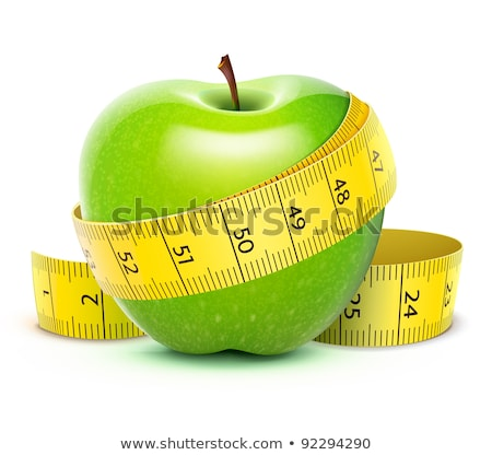 Green apple with centimeter Stock photo © vankad