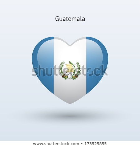Guatemala Heart flag icon Stock photo © netkov1