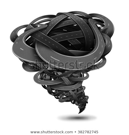 tornado road concept stock photo © lightsource