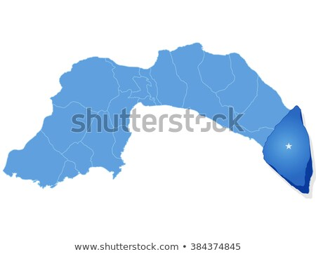 Map of Antalya - Gazipasa is pulled out Stock photo © Istanbul2009