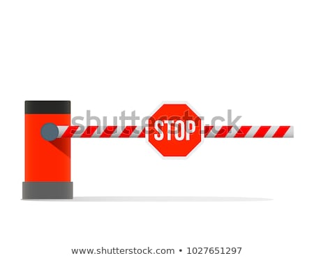 Security Checkpoint Icon. Flat Design. Stock photo © WaD