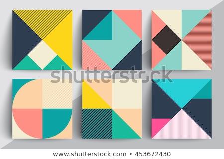 Pasztell mértani terv színek absztrakt háttér Stock fotó © kjpargeter