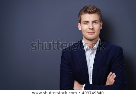 portret · jonge · zakenman · donkere · kleurrijk · toepassingen - stockfoto © elnur