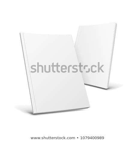 Dos libros aislado blanco papel diseno Foto stock © cherezoff