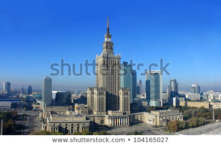 Palace Of Culture And Science and office buildings Stock photo © filipw