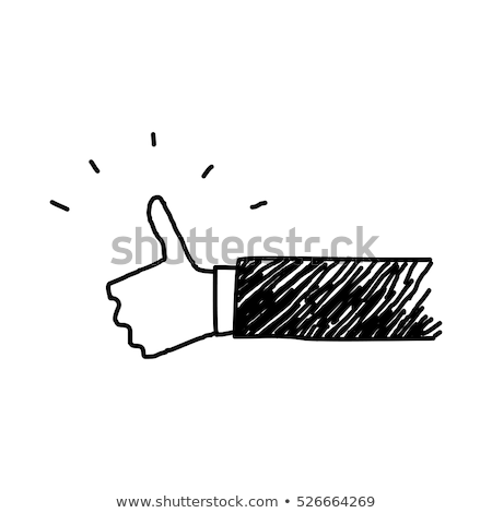 Stock photo: Doodle Thumbs Up icon.