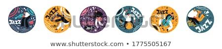 Verdubbelen trommelaar illustratie ogen lichaam achtergrond Stockfoto © bluering