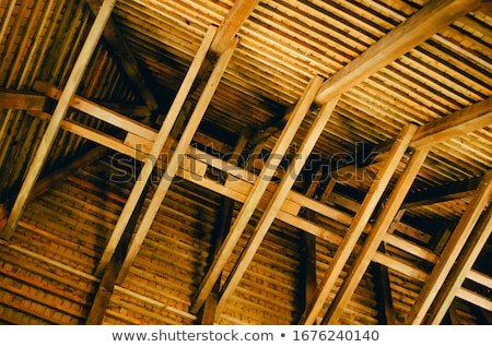 Stock photo: Framework for the roof