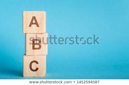 escrito · alfabeto · maestro · escuela · educación · negro - foto stock © coramax