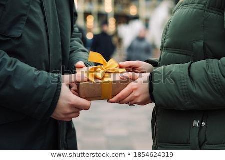 presenteert · twee · kinderen · opgewonden · groot · geschenken - stockfoto © elnur
