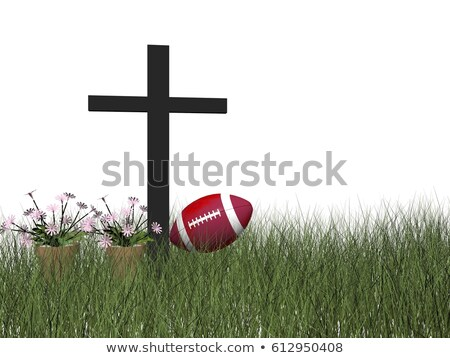 sports accident symbolized by a cross   3d render stock photo © mariephoto