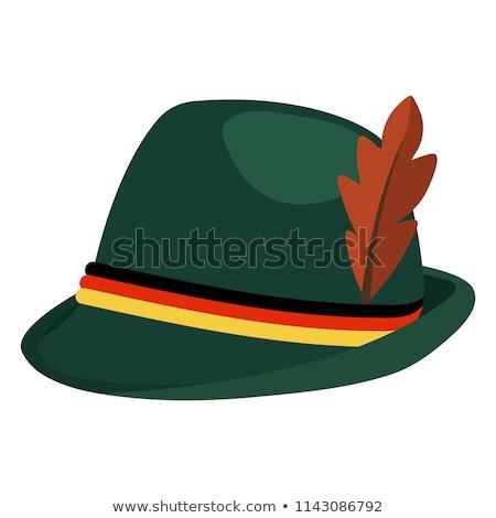 Simple green felt hat Stock photo © homydesign