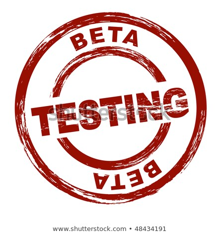Damga beta test stilize kırmızı tüm Stok fotoğraf © H2O