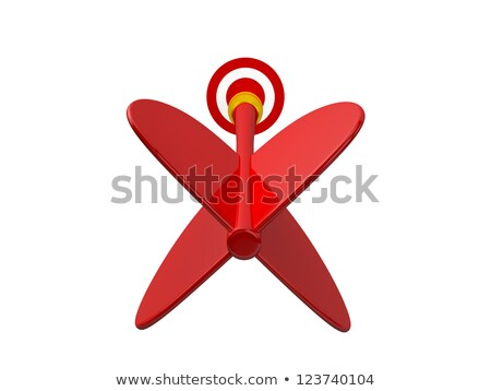 Red dart. Back view Stock photo © djmilic