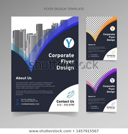 Business poster, Brochure and flyer design template. Best for management consulting, finance, law co Stock photo © JeksonGraphics