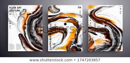 bright orange waves on white background stock photo © saicle