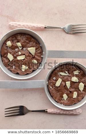 Nederlands amandel vierkante klein cake plaat Stockfoto © Digifoodstock