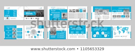 Moderne business brochure boekje ontwerp abstract Stockfoto © SArts