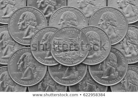 Monedas EE.UU. trimestre superior negocios Foto stock © CaptureLight