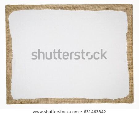 Nyújtott zsákvászon művészet vászon izolált fehér Stock fotó © PixelsAway