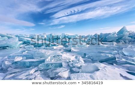 Gelo campo lago pequeno usado Foto stock © searagen