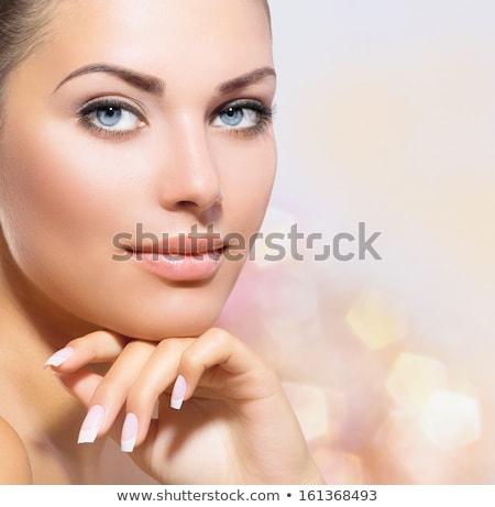 portre · genç · kadın · temizlemek · taze · cilt - stok fotoğraf © konradbak