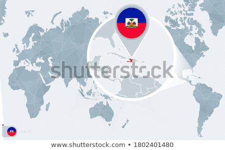 Mavi harita Haiti ülke Stok fotoğraf © carenas1