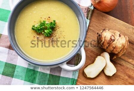 Ingredients of Artichoke Soup Stock photo © zhekos