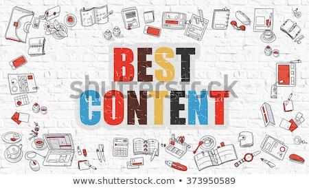 En iyi içerik karalama dizayn simgeler Stok fotoğraf © tashatuvango