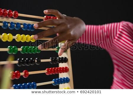 Schülerin abacus schwarz Kind kid weiblichen Stock foto © wavebreak_media