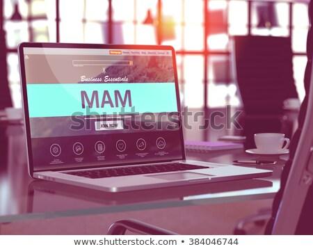 Laptop Screen with MAM Concept. Stock photo © tashatuvango