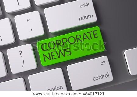 Stock fotó: Billentyűzet · zöld · numerikus · billentyűzet · vállalati · hírek · 3D