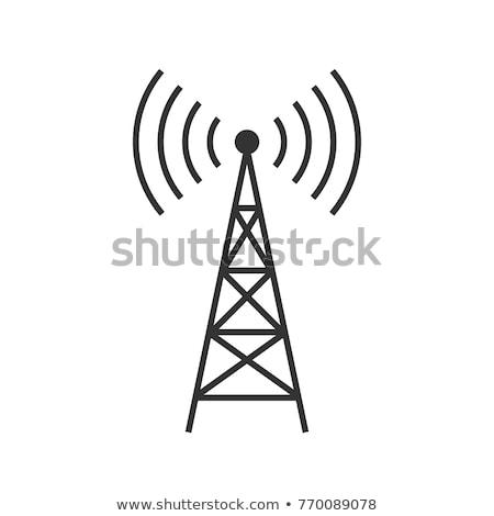 Radio antenne ciel bleu ciel téléphone bleu Photo stock © njnightsky