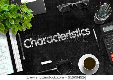 Black Chalkboard with Characteristics. 3D Rendering. Stock photo © tashatuvango