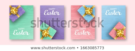 painted easter eggs in box stock photo © is2