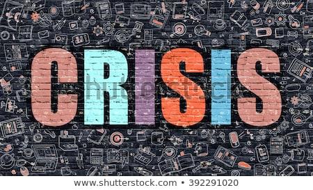Crise rabisco projeto branco parede Foto stock © tashatuvango
