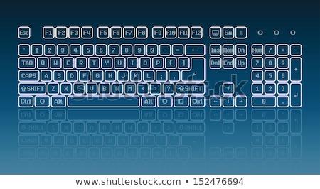 bilgisayar · klavye · mavi · anahtar · güç · iş · para - stok fotoğraf © tashatuvango