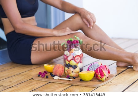 healthy fitness breakfast Stock photo © M-studio