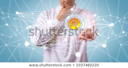 kunstmatig · netwerk · machine · leren · gegevens · mijnbouw - stockfoto © designleo