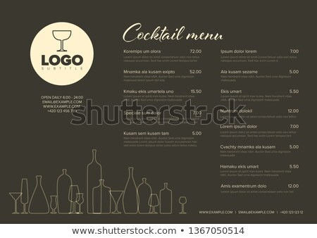 Two Cocktails Menu Banners Vector Illustration Stock photo © robuart