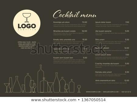 gin · illustratie · cute · rook · lamp · goud - stockfoto © robuart