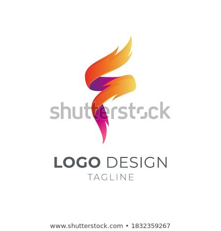 fire burn initial letter alphabet Stock photo © vector1st