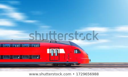 расплывчатый мнение поезд железнодорожная станция знак путешествия Сток-фото © IS2