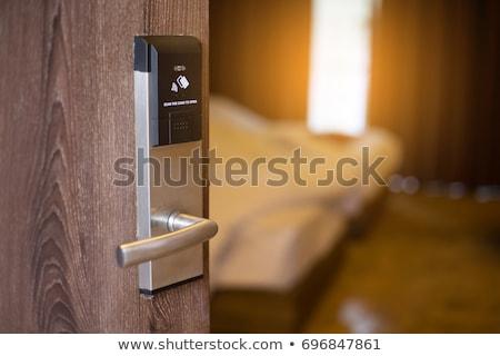 Inteligente cartão protegido metálico trancar Foto stock © wavebreak_media