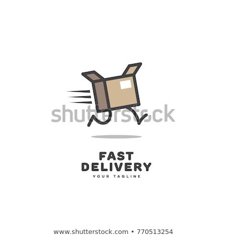 Kurier Boxen schnell Lieferung Fracht Comic Stock foto © rogistok