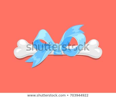 Os de chien cartoon simple dessin design ruban Photo stock © hittoon