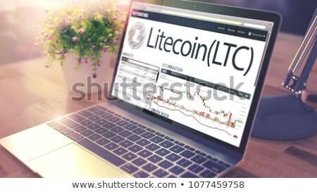 The Dynamics of Cost of LITECOIN on Laptop Screen. 3d Stock photo © tashatuvango